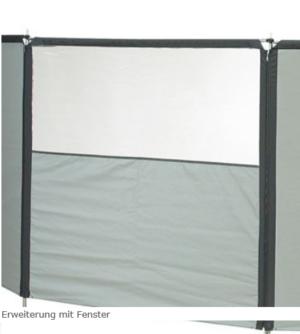 Isabella Flex Grey Windschutz Erweiterung mit Fenster