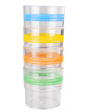 WACA Family 4 Trinkglas bunt