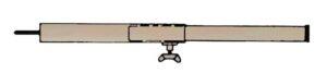 Aufstellstab Stahl 22 mm 110-200 cm