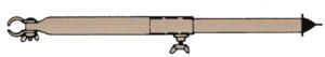 Orkanstütze Alu 25 mm 170-260 cm