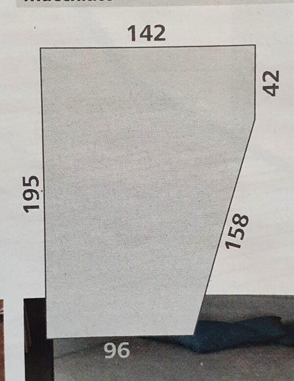 Fixleintuch 142 x 195 (158 / 42) cm für französisches Bett im Reisemobil Hellbraun