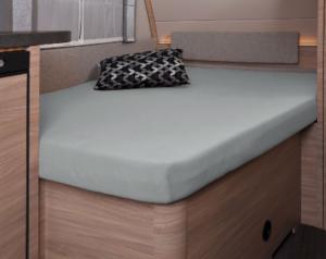 Fixleintuch 137 x 195 (110 / 90) cm für französisches Bett im Wohnwagen Silber