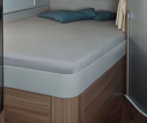 Fixleintuch 142 x 195 (158 / 42) cm für französisches Bett im Reisemobil Silber