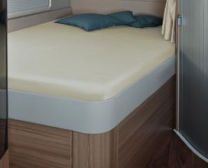 Fixleintuch 142 x 195 (158 / 42) cm für französisches Bett im Reisemobil Sand