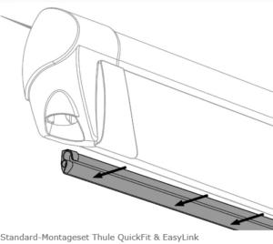 Montageset für Thule QuickFit und EasyLink, anthrazit