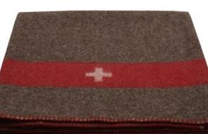 Schweizer Armeedecke (braun)