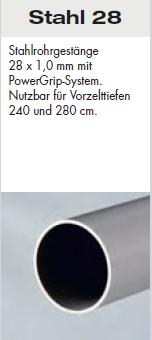 Brand Zelte-Aufpreis Stahl 28 mm Gestänge  / Trento / Veneto / Santos