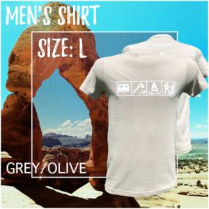 Men - Size L / Grey-Olive