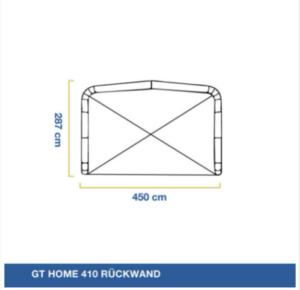 GT Home 410 Rückwand, Gentle Tent