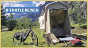 GT B TURTLE olive / Micro-Wohnwagen für E-BIKES